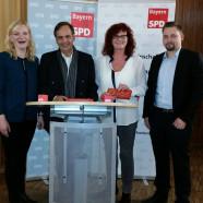 Marietta Eder, MdEP Knut Fleckenstein, MdEP Kerstin Westphal und Markus Hümpfer